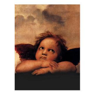 Raphael Cherubs Sistine Madonna 2 Angels Postcards