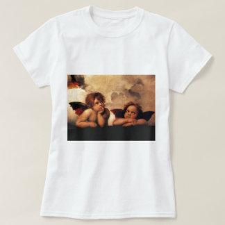 Raphael Cherubs Sistine Madonna 2 Angels T-Shirt