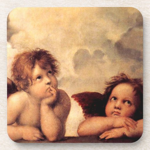 Raphael Cherubs Sistine Madonna Coasters