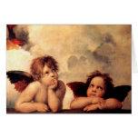 Raphael Cherubs Sistine Madonna Note Card
