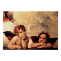 Raphael Cherubs Sistine Madonna Poster