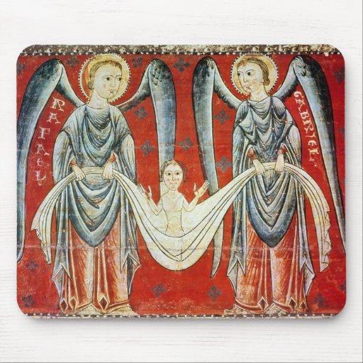 Raphael de St Gabriel y del St., c.1200 Alfombrillas De Raton