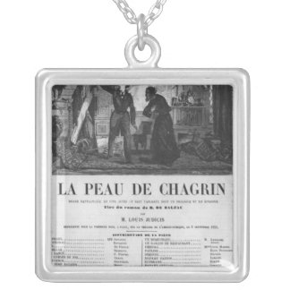 Raphael de Valentin and the shopkeeper Silver Plated Necklace