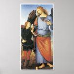 Raphael del arcángel con Tobias, C. 1496-1500 Posters