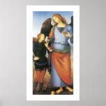 Raphael del arcángel con Tobias Poster