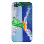 Raphael del arcángel que practica surf en el caso  iPhone 4 cárcasa