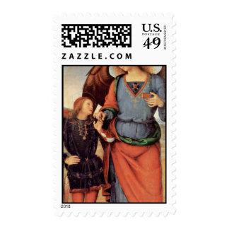 Raphael del arcángel y Tobias pequeños Sello