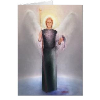 Raphael del santo con el poema y la escritura tarjeta de felicitación