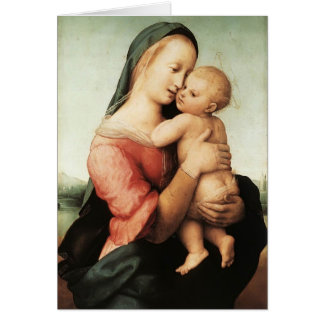 Raphael- Detail of the 'Tempi' Madonna Greeting Card