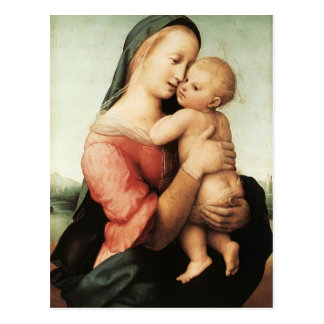 Raphael- Detail of the 'Tempi' Madonna Postcard