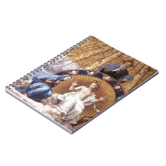 Raphael: Discusión del sacramento santo (detalle) Libretas Espirales