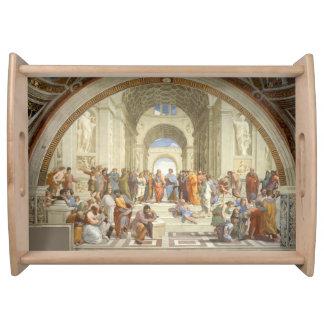 Raphael - Escuela de Atenas Bandejas