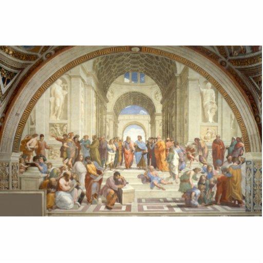 Raphael - Escuela de Atenas Escultura Fotografica