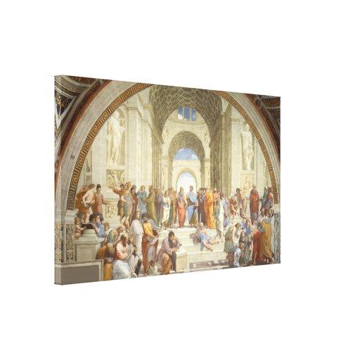 Raphael - Escuela de Atenas Impresión En Lienzo