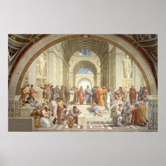 Raphael - Escuela de Atenas Póster