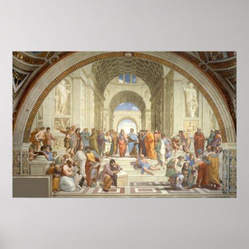 Raphael - Escuela de Atenas Posters