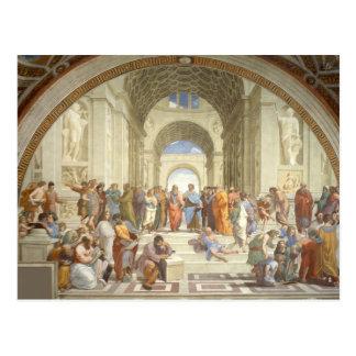 Raphael - Escuela de Atenas Tarjeta Postal