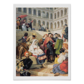 Raphael in the Vatican, 1832 (oil on canvas) Poster