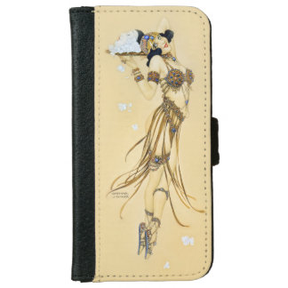 Raphael Kirchner Vintage Pin-Up Girl Wallet Phone Case For iPhone 6/6s