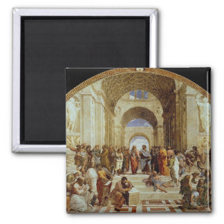 """Raphael """"la escuela de Atenas"""" (circa 1511) Imán Cuadrado"""