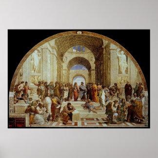 """Raphael """"la escuela de Atenas"""" (circa 1511) Impresiones"""