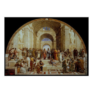 """Raphael """"la escuela de Atenas"""" (circa 1511) Póster"""
