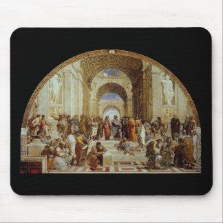 """Raphael """"la escuela de Atenas"""" (circa 1511) Alfombrillas De Ratones"""