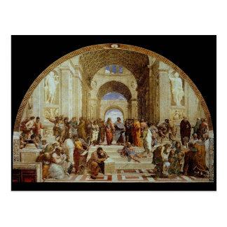 """Raphael """"la escuela de Atenas"""" (circa 1511) Postal"""