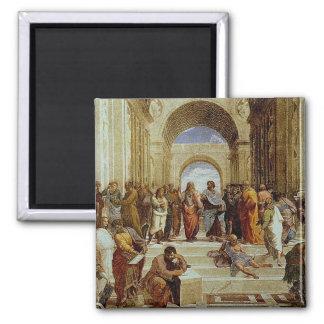"""Raphael """"la escuela detalle de Atenas"""" circa 1511 Imán Cuadrado"""