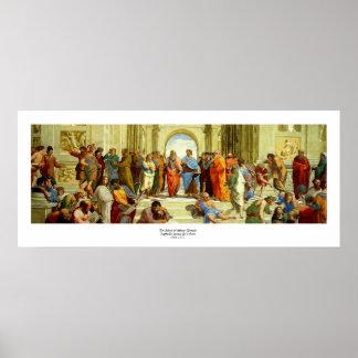 """Raphael """"la escuela detalle de Atenas"""" circa 1511 Póster"""