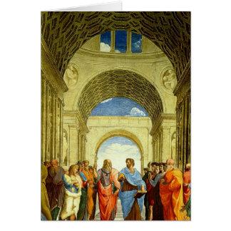 """Raphael """"la escuela detalle de Atenas"""" circa 1511 Tarjeton"""