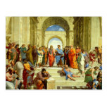 """Raphael """"la escuela detalle de Atenas"""" circa 1511 Postales"""