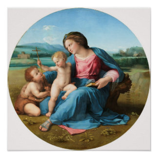 Raphael: Madonna Alba Impresiones