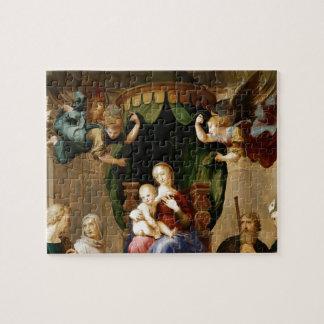 Raphael Madonna con el Baldachino (detalle) Puzzle