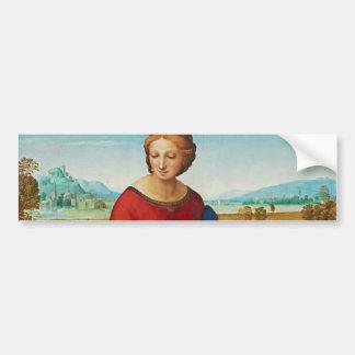 Raphael: Madonna en el prado Pegatina Para Auto