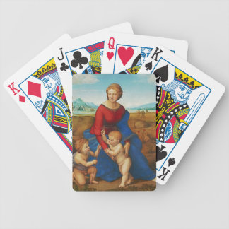 Raphael: Madonna in the Meadow Bicycle Playing Cards