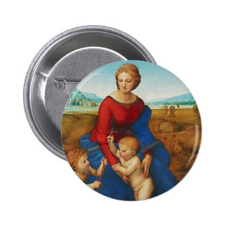 Raphael: Madonna in the Meadow Pinback Button