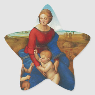 Raphael: Madonna in the Meadow Star Sticker