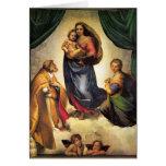 Raphael Madonna y tarjeta de Navidad del niño