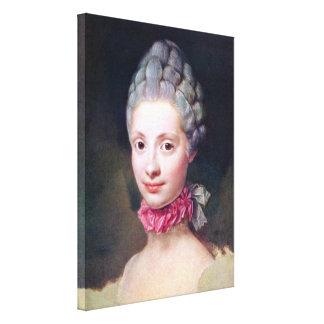 Raphael - Maria Luisa of Parma Princess of Austria Gallery Wrap Canvas