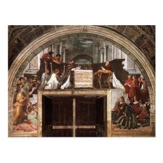 Raphael: Mass of Bolsena, from Stanza dell'Eliodor Postcard