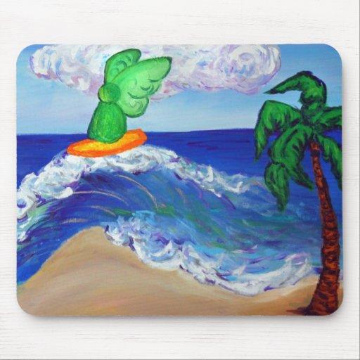 Raphael Mousepad del ángel que practica surf Alfombrilla De Ratón