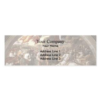Raphael: Papa Leo I Repulsing Attila Plantillas De Tarjetas De Visita