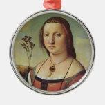 Raphael - Portrait of Maddalena Doni Ornament