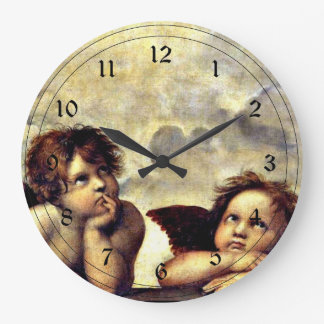Raphael: Putti, Detail from the Sistine Madonna Wall Clocks