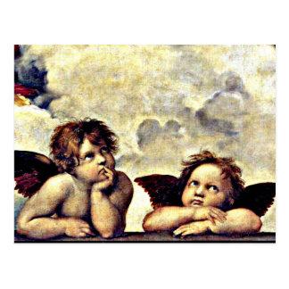 Raphael: Putti, Detail from the Sistine Madonna Postcard