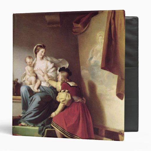 """Raphael que ajusta la actitud de su modelo el suyo carpeta 1 1/2"""""""