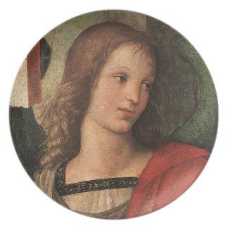 Raphael Renaissance Christmas Angel Fine Art Plate