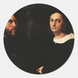 Raphael Retrato de Andrea Navagero Agustín Pegatina