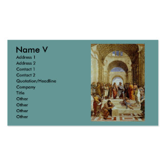 Raphael s The School of Athens Detail circa 1511 Business Cards